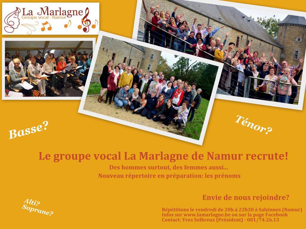 Recrutement La Marlagne